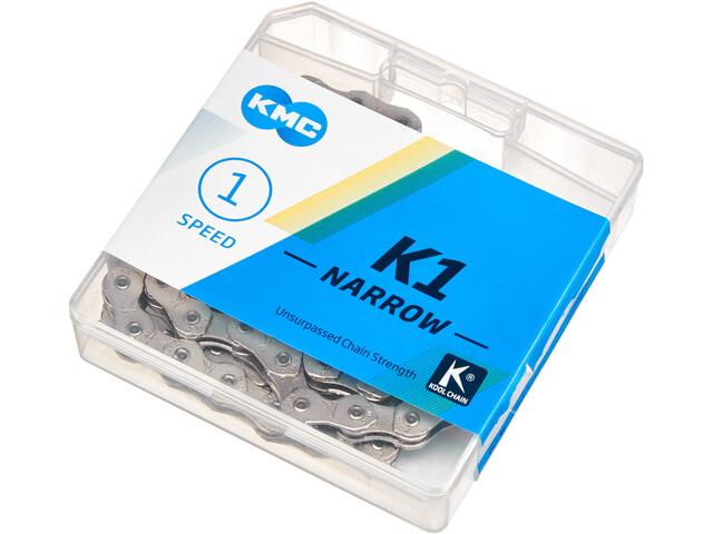 KMC K1 Narrow Catena 1 velocità BMX, argento